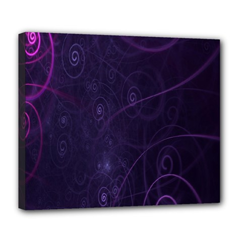 Purple Abstract Spiral Deluxe Canvas 24  X 20   by Jojostore