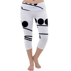 Bobsleigh Pictogram Capri Yoga Leggings by abbeyz71