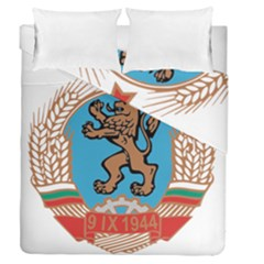 Coat Of Arms Of Bulgaria (1968 1971) Duvet Cover Double Side (queen Size) by abbeyz71