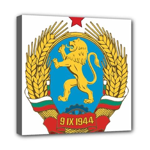 Coat Of Arms Of Bulgaria (1948 1968) Mini Canvas 8  X 8  by abbeyz71