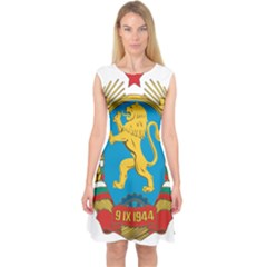 Coat Of Arms Of Bulgaria (1948 1968) Capsleeve Midi Dress by abbeyz71