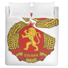 Coat of Arms of Bulgaria (1948) Duvet Cover Double Side (Queen Size) by abbeyz71