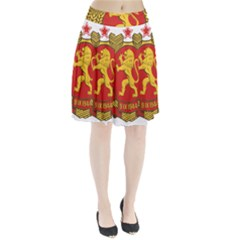 Coat of Arms of Bulgaria (1948) Pleated Skirt