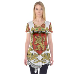Coat of Arms of Bulgaria (1927-1946) Short Sleeve Tunic  by abbeyz71