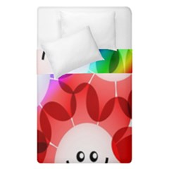 Happy Flowers Duvet Cover Double Side (Single Size) by Nexatart