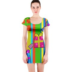 Holiday Gifts Short Sleeve Bodycon Dress by Nexatart