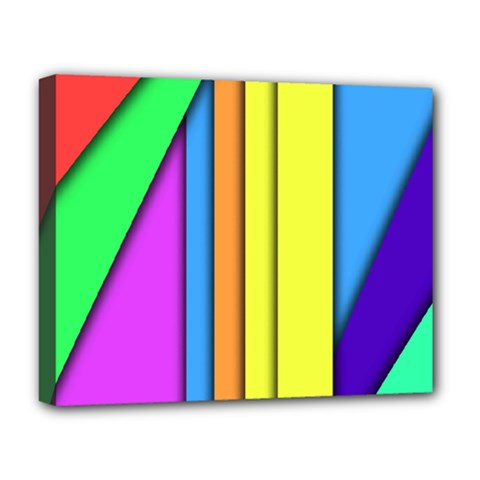 More Color Abstract Pattern Deluxe Canvas 20  X 16   by Nexatart