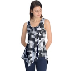 Noise Texture Graphics Generated Sleeveless Tunic