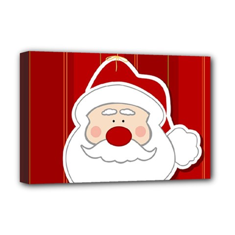 Santa Claus Xmas Christmas Deluxe Canvas 18  X 12   by Nexatart