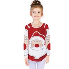 Santa Claus Xmas Christmas Kids  Long Sleeve Tee