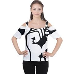 Skeleton Right Hand Fist Raised Fist Clip Art Hand 00wekk Clipart Women s Cutout Shoulder Tee by Foxymomma