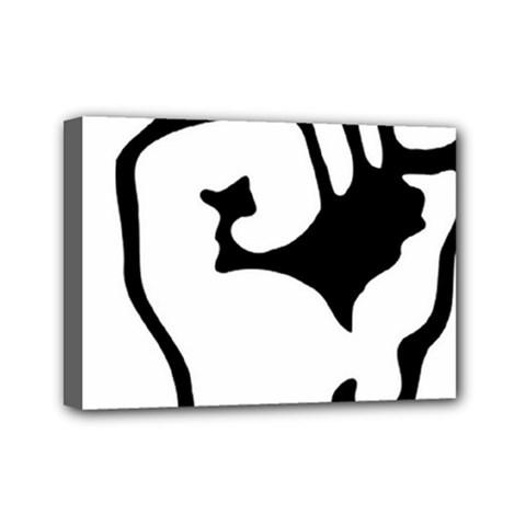 Skeleton Right Hand Fist Raised Fist Clip Art Hand 00wekk Clipart Mini Canvas 7  X 5  by Foxymomma
