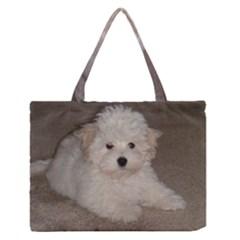 Coton De Tulear Puppy Medium Zipper Tote Bag