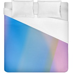 Twist Blue Pink Mauve Background Duvet Cover (king Size) by Nexatart