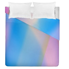 Twist Blue Pink Mauve Background Duvet Cover Double Side (queen Size) by Nexatart