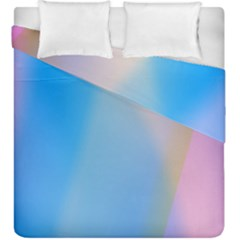 Twist Blue Pink Mauve Background Duvet Cover Double Side (king Size) by Nexatart