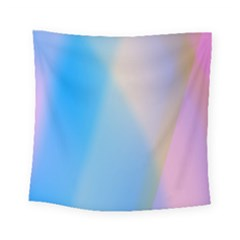 Twist Blue Pink Mauve Background Square Tapestry (small) by Nexatart
