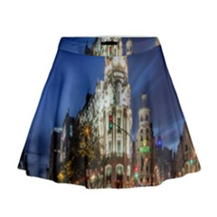 Architecture Building Exterior Buildings City Mini Flare Skirt by Nexatart