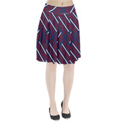 Geometric Background Stripes Red White Pleated Skirt by Nexatart
