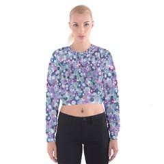 Decorative bubbles Women s Cropped Sweatshirt by Valentinaart