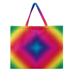 Hippie  Zipper Large Tote Bag by Valentinaart