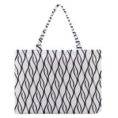 Black and white elegant pattern Medium Zipper Tote Bag