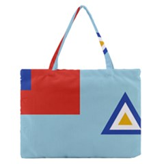 Air Force Ensign ,f Burma, 1948 1974 Medium Zipper Tote Bag by abbeyz71