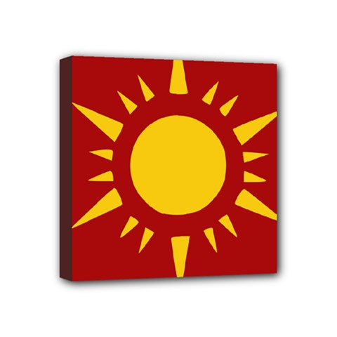 Flag Of Myanmar Army Northeastern Command Mini Canvas 4  X 4  by abbeyz71