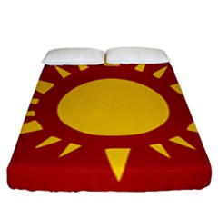 Flag Of Myanmar Army Northeastern Command Fitted Sheet (king Size) by abbeyz71