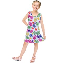 Colorful roses Kids  Tunic Dress by Valentinaart