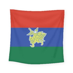 Flag Of Myanmar Kayah State Square Tapestry (small) by abbeyz71