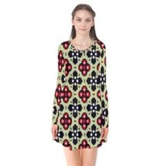 Seamless Tileable Pattern Design Flare Dress by Nexatart