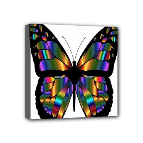 Abstract Animal Art Butterfly Mini Canvas 4  X 4  by Nexatart