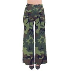 Camouflage Green Brown Black Pants by Nexatart