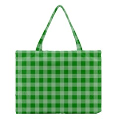 Gingham Background Fabric Texture Medium Tote Bag by Nexatart