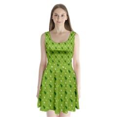 Green Christmas Tree Background Split Back Mini Dress  by Nexatart