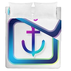 Icon Anchor Containing Fixing Duvet Cover Double Side (queen Size) by Nexatart