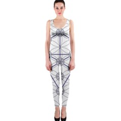Tree Of Life Flower Of Life Stage Onepiece Catsuit by Nexatart