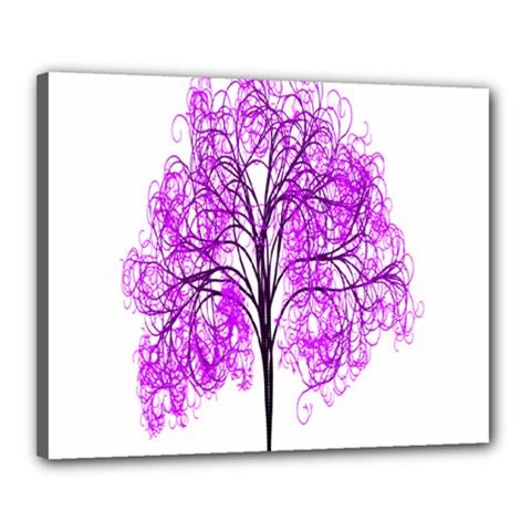 Purple Tree Canvas 20  X 16  by Nexatart