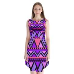 Seamless Purple Pink Pattern Sleeveless Chiffon Dress   by Nexatart