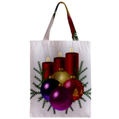 Candles Christmas Tree Decorations Zipper Classic Tote Bag by Nexatart