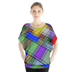 Abstract Background Pattern Blouse by Nexatart