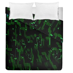 Abstract Art Background Green Duvet Cover Double Side (queen Size) by Nexatart