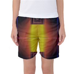Abstract Painting Women s Basketball Shorts by Nexatart
