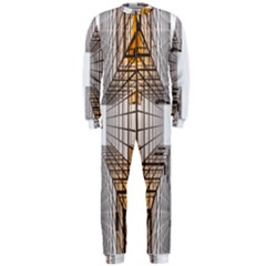 Architecture Facade Buildings Windows OnePiece Jumpsuit (Men)  by Nexatart