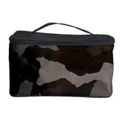 Background For Scrapbooking Or Other Camouflage Patterns Beige And Brown Cosmetic Storage Case by Nexatart