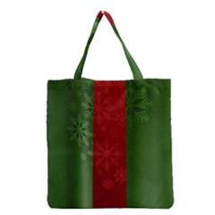 Background Christmas Grocery Tote Bag by Nexatart