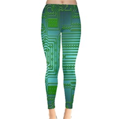 Board Conductors Circuits Leggings  by Nexatart