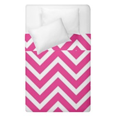 Chevrons Stripes Pink Background Duvet Cover Double Side (Single Size) by Nexatart