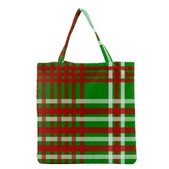Christmas Colors Red Green White Grocery Tote Bag by Nexatart